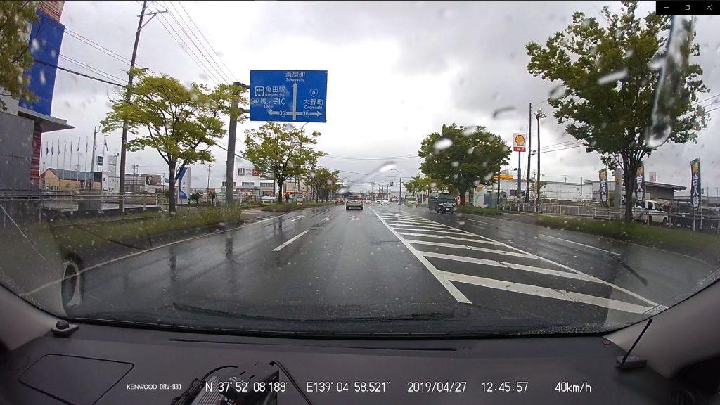 北陸自動車道へ乗りため一般道走行中(12:45)